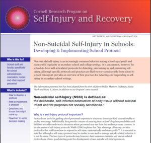 Cornell Research Program on Self-Injury