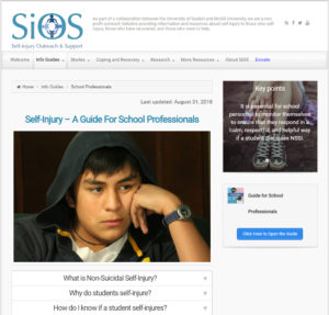 Self-Injury – A Guide For School Professionals